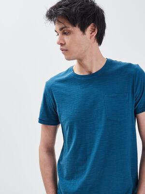 T shirt manches courtes bleu petrole homme