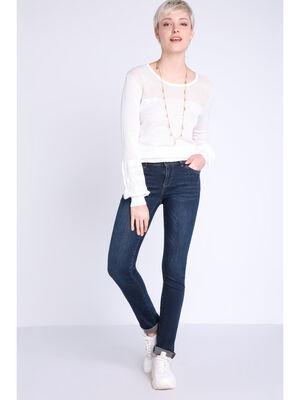 Jeans slim denim brut femme