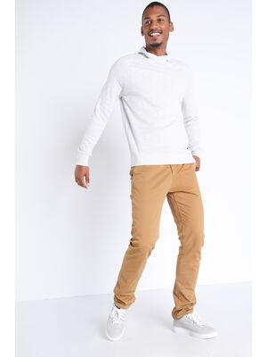 Pantalon straight Instinct chino ajuste beige homme