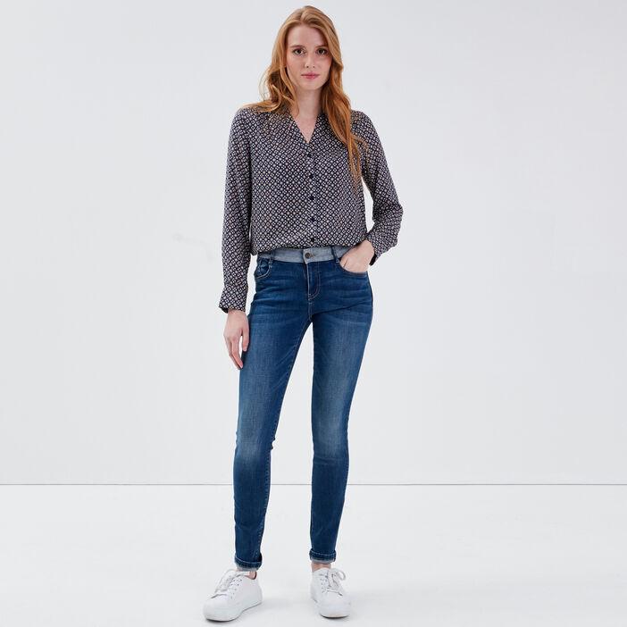 Jeans Isabelle - slim denim brut femme