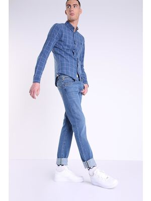jeans slim homme effet use l34 denim used