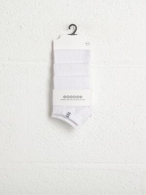 Chaussettes blanc homme