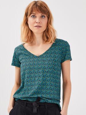 T shirt eco responsable multicolore femme