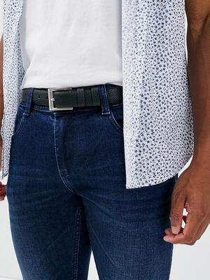 ceinture en cuir noir noir homme