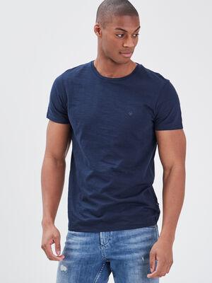 T shirt Instinct col rond bleu marine homme