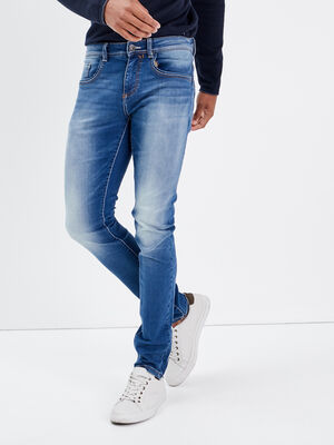 Jeans slim ultra stretch denim used homme