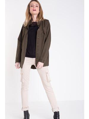 Pantalon cargo used beige femme