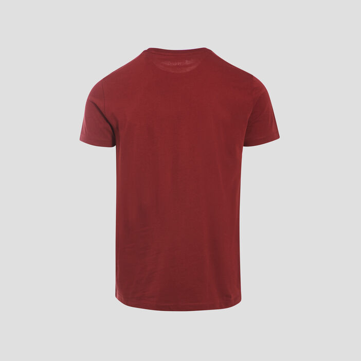 T-shirt manches courtes rouge foncé homme