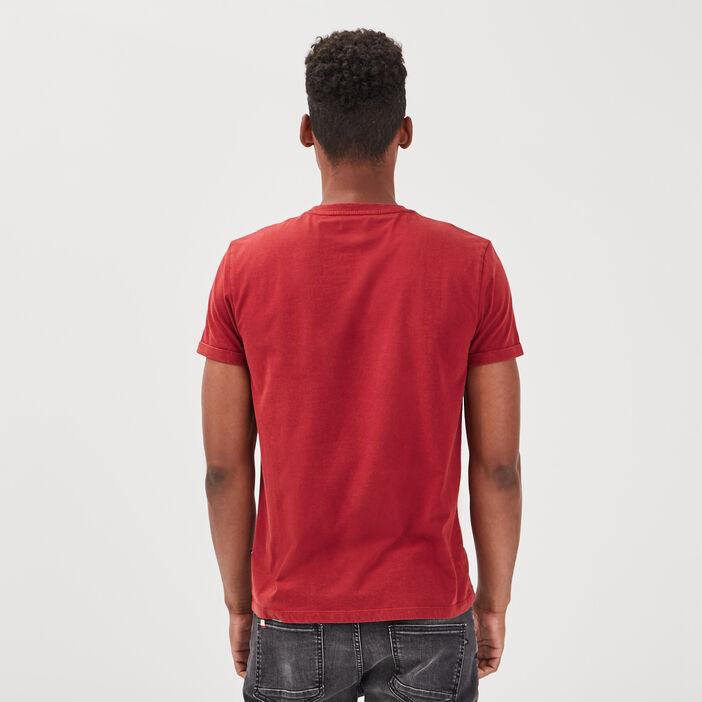 T-shirt manches courtes bordeaux homme
