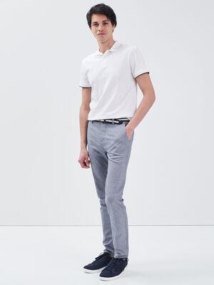 Pantalon chino ceinture denim stone homme