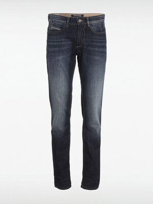 Jeans regular poches fantaisie denim stone homme