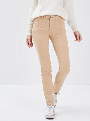 Pantalon beige femme
