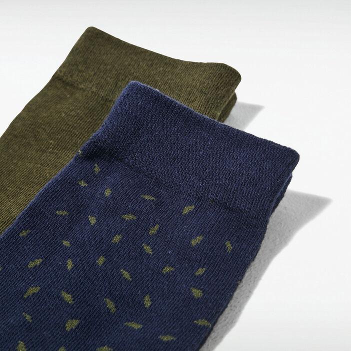Lot 2 paires de chaussettes bleu marine homme
