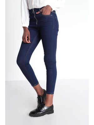 Jeans skinny zippe denim brut femme