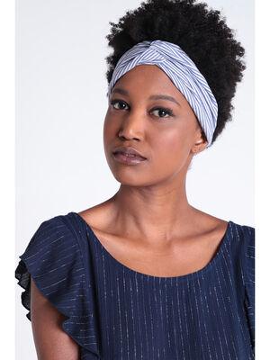 Headband bleu fonce femme