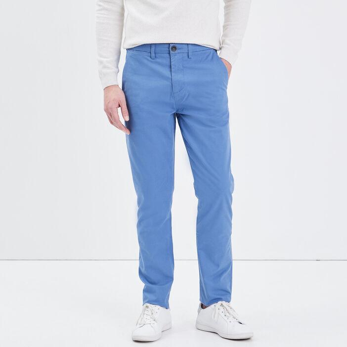 Pantalon slim Instinct chino bleu homme