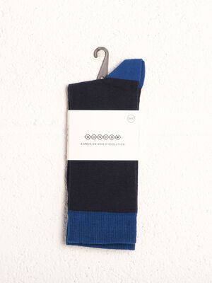 Chaussettes bleu marine homme