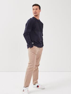 Pantalon Instinct chino marron homme