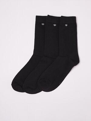 Set 3 paires de chaussettes noir homme