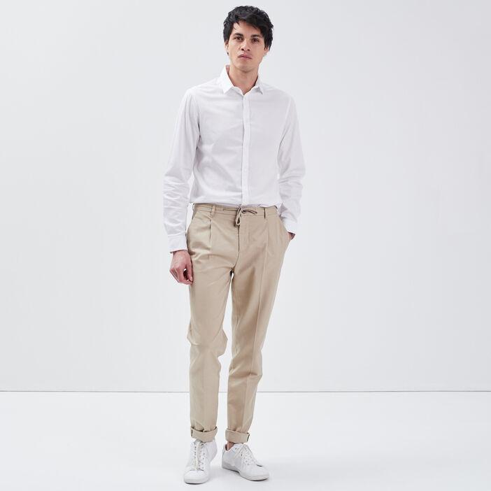 Pantalon chino beige homme