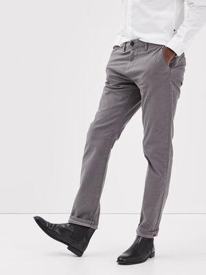 Pantalon straight Instinct chino ajuste gris fonce homme