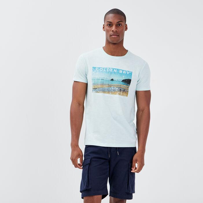 T-shirt manches courtes bleu homme