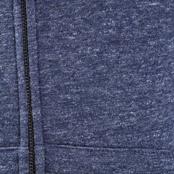 Sweat manches longues zippé bleu foncé homme