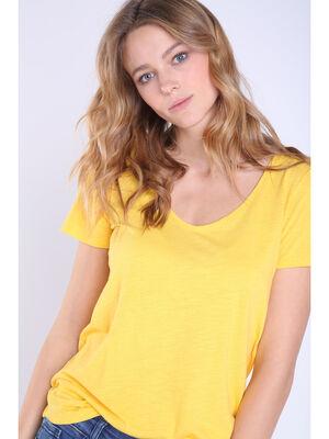 T shirt manches courtes Instinct jaune femme