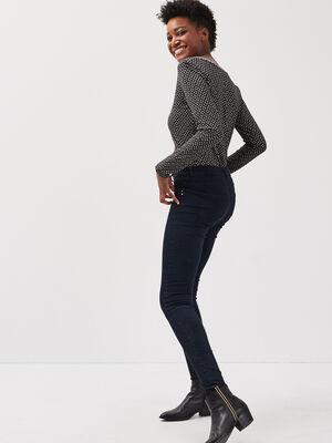 Jeans jegging skinny en coton bio denim brut femme