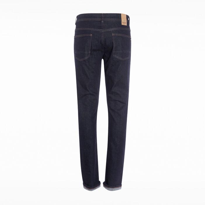 Jeans straight 5 poches denim brut homme