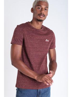 T shirt manches courtes rouge fonce homme