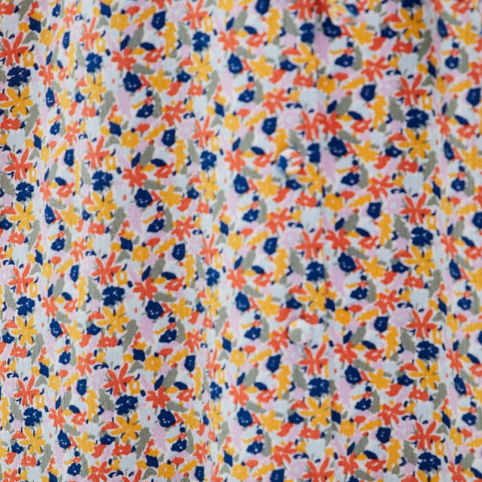 Robe midi droite ceinturée multicolore femme