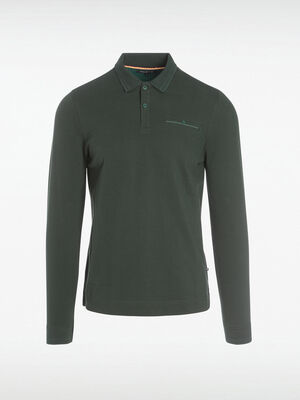 Polo Instinct manches longues vert fonce homme