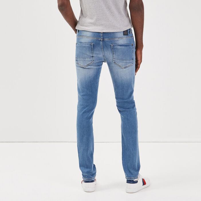 Jeans slim effet destroy denim used homme