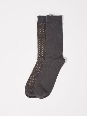 Lot 2 paires chaussettes gris fonce homme