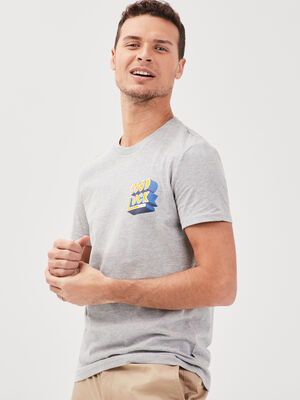 T shirt Instinct col rond gris fonce homme