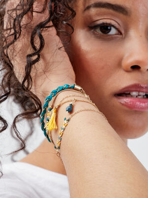Lot 5 bracelets jaune femme