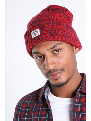 Bonnet a revers rouge homme
