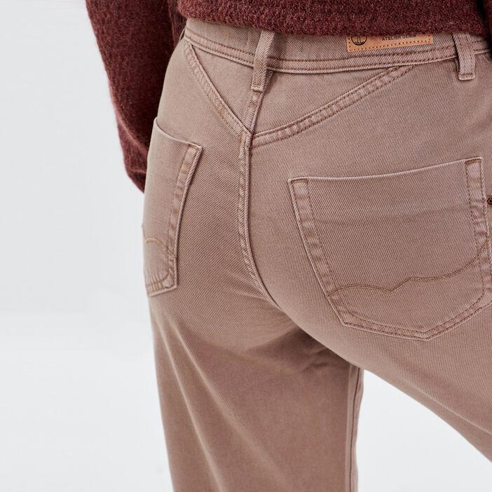 Pantalon regular sable femme