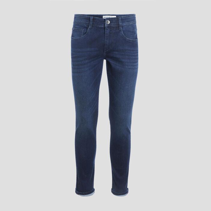 Jeans skinny 5 poches denim brut homme