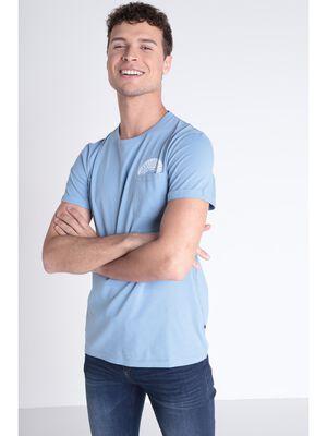 T shirt detail poche bleu lavande homme