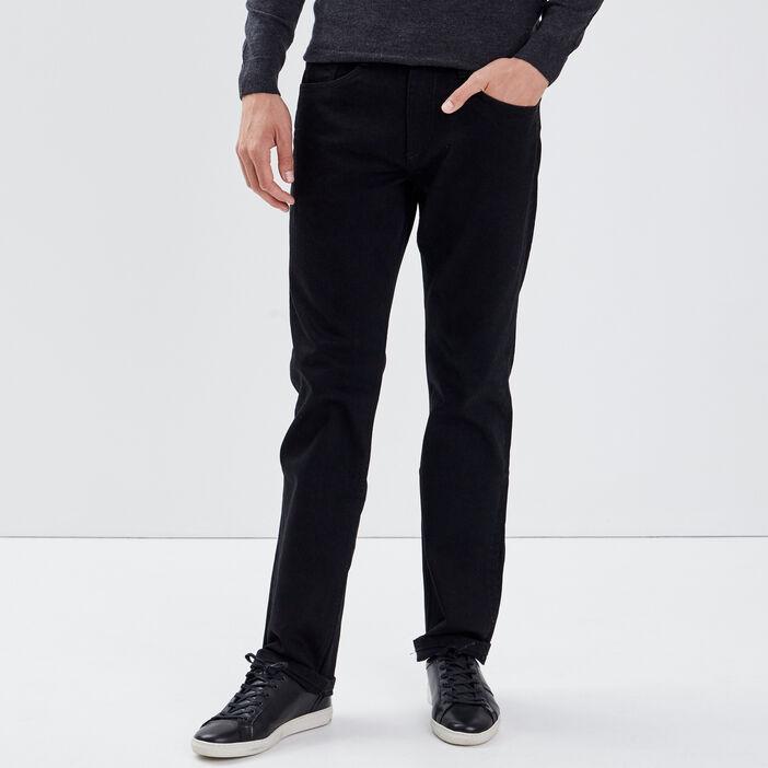Jeans éco-responsable regular denim noir homme