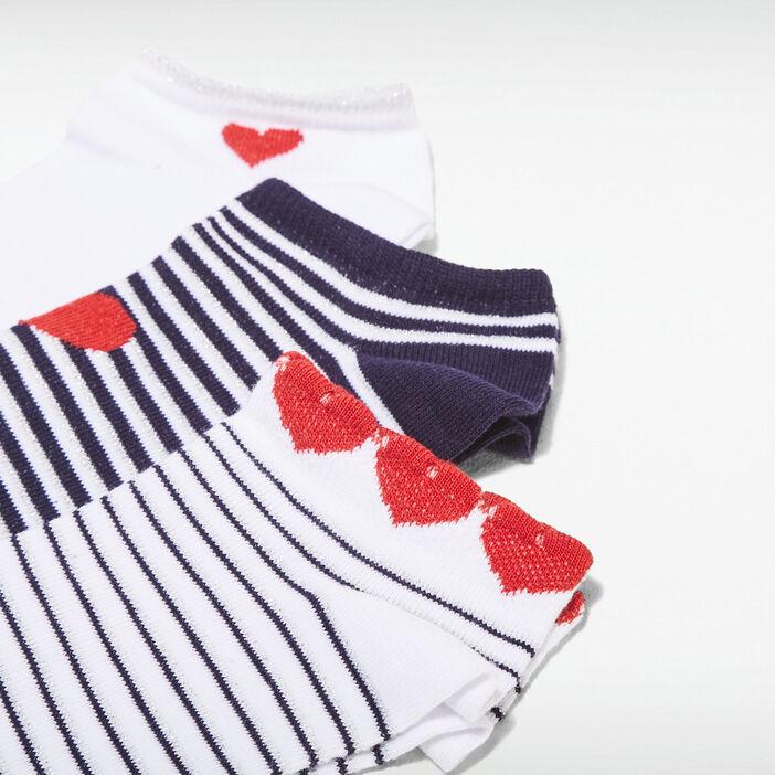 Lot 3 paires chaussettes blanc femme
