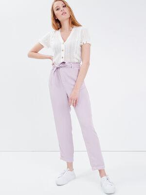 Pantalon slouchy ceinture parme femme