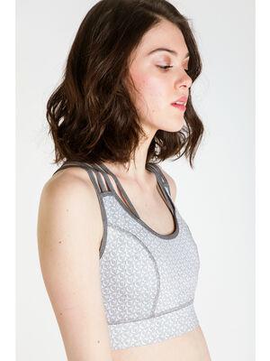 Brassiere de yoga Instinct gris clair femme