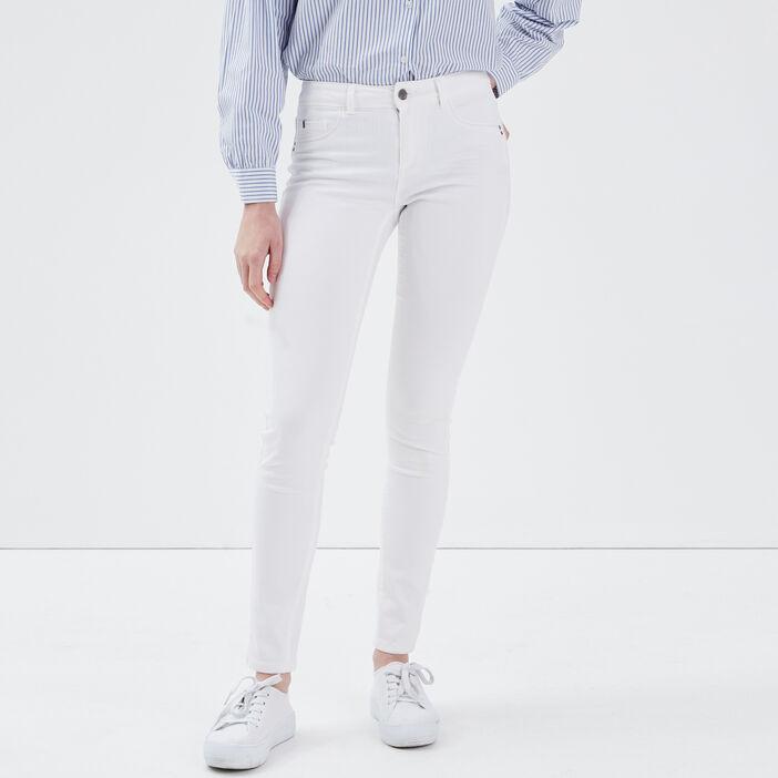 Jeans Lou - jegging en coton bio blanc femme