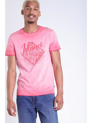 T shirt delave rouge homme