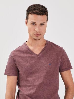T shirt manches courtes rose homme