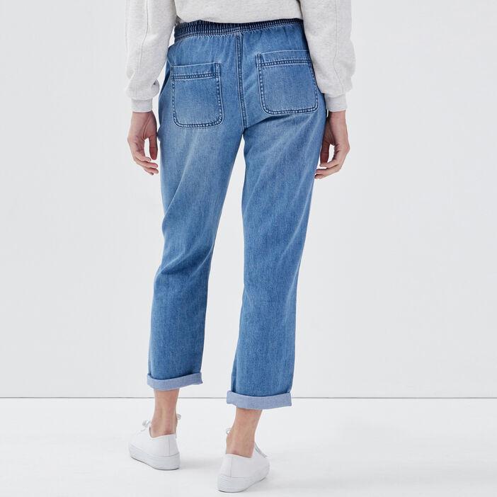 Jeans jogger éco-responsable denim stone femme