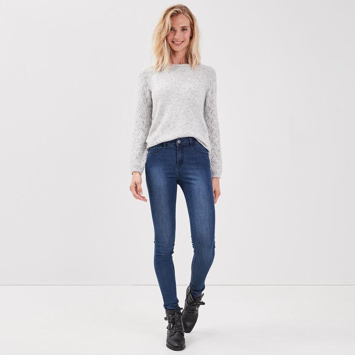 Jeans jegging skinny en coton bio denim stone femme